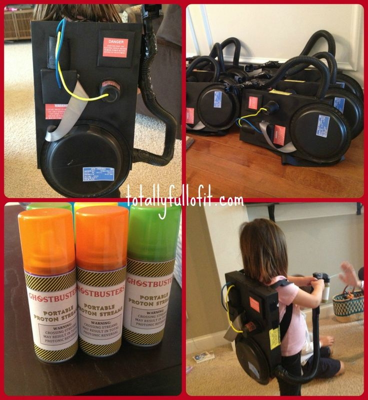 Surviving a sleepover: Homemade Ghostbuster Proton Packs  - www.totallyfullofit.com