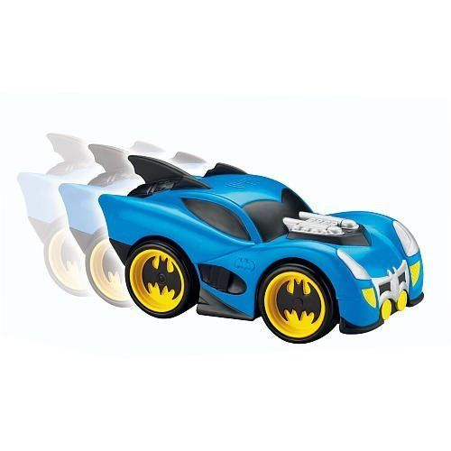 marvel shake n go blue zoom batman vehicle - batmobile by fisher price by fisher price. $49.99. so cute. best color. sold out everywhere. vroom and zoom away. ships fast. Cool Batman phrases  Engine starts when toy is shaken  Requires 3 AA batteries (included)  Shake n' Go cars put the control of speed and power into kids' hands. This Shake 'N Go Racer is based on Batman's car - the Batmobile. Shake the car to rev the engine, the engine revs higher and higher until it is ...