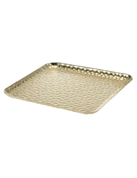 Tilly@home Eclipse Hammered Gold Platter, Large product photo