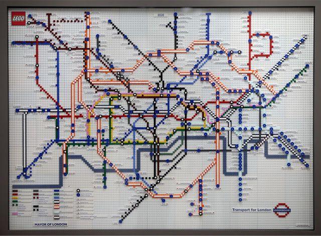 Mapa do metrô de Londres em 2020/ Foto: Divulgação