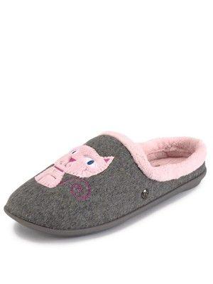 Novelty Cat Mule Slippers, http://www.very.co.uk/freestep-novelty-cat-mule-slippers/1219745011.prd