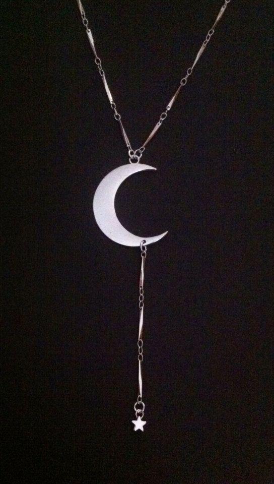 @ www.etsy.com/shop/redgypsyjewelry  Love Moon Necklace  by RedGypsyJewelry