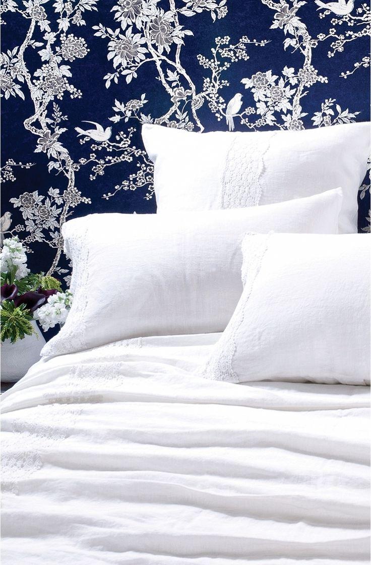 Bianca Lorenne Luxury Bedding l AVillotte White Bedspread & Pillows l 100% Cotton Bedding