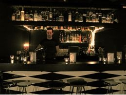 This beautiful basement bar hidden below a Kings Cross cafe is housed in an ex sex shop and has 30 Gins!