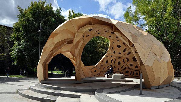 Pavilon ve Stuttgartu vypadá jako mořský ježek http://art.ihned.cz/architektura/c1-55586560