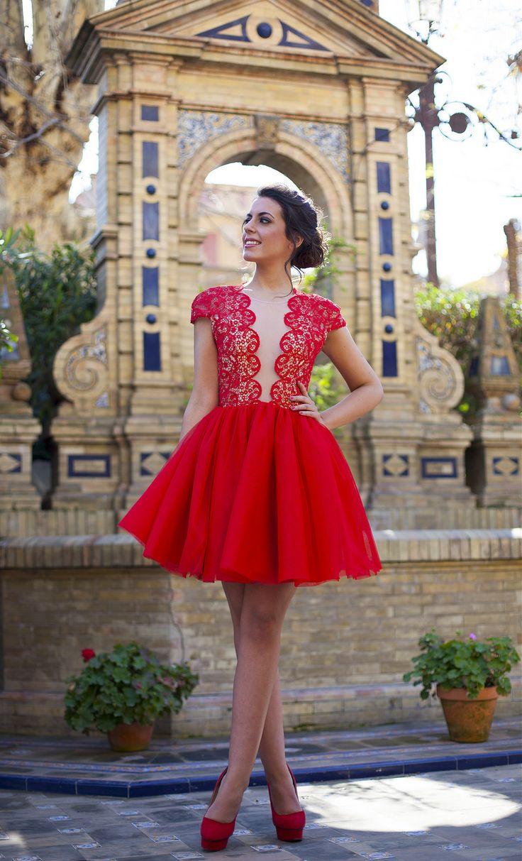 Vestidos, Trajes, Comprar, Vestidos De Regreso A Casa Rojos, Vestidos De  Dama De Honor Corto, Vestidos De Fiesta De Gasa, Vestidos De Graduación,