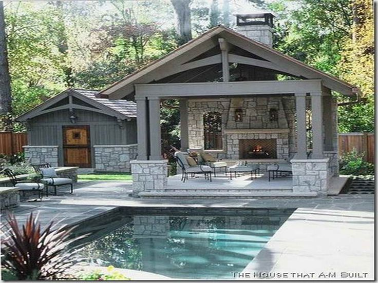 Old fashioned way to get the best pool house designs with for House plan with swimming pool