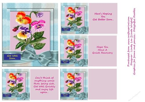 Pretty Pansies by Linda Wright These delightful Pansies will surely cheer up someone who is not well in your family or a friend. This is a…