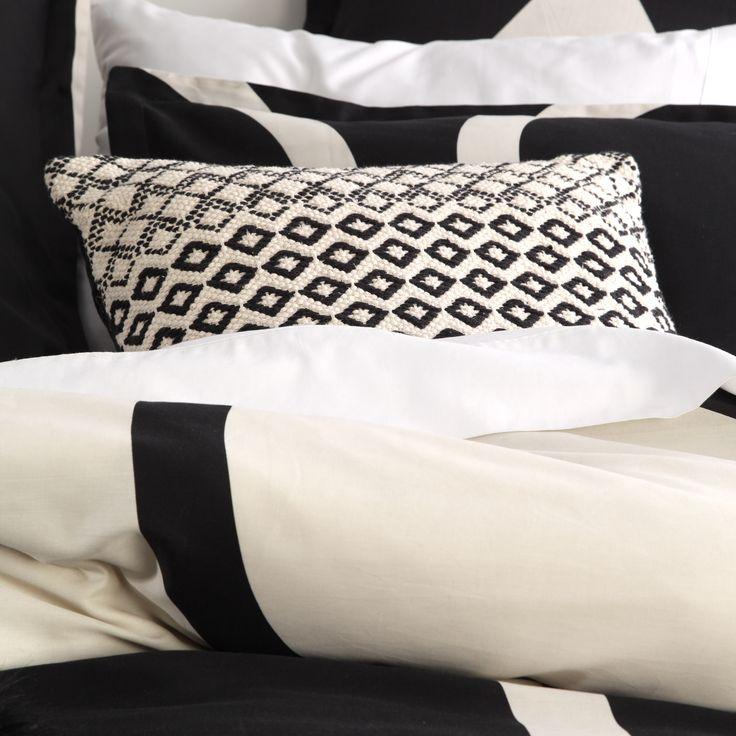 LTD. by Logan & Mason - Orbit Noir Quilt Cover Set #bedroom #bed #décor #style #geometric #black #cream #ltd #limited