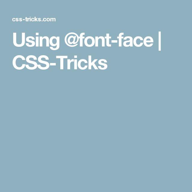 Using @font-face   CSS-Tricks