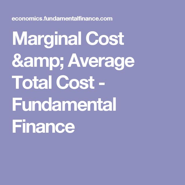 Marginal Cost & Average Total Cost - Fundamental Finance