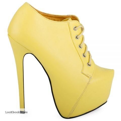 Жёлтая обувь батильоны