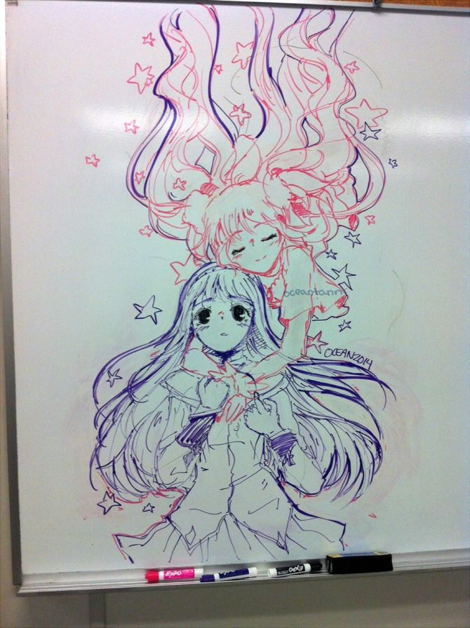 25 best ideas about anime sketch on pinterest manga for Cute whiteboard drawings