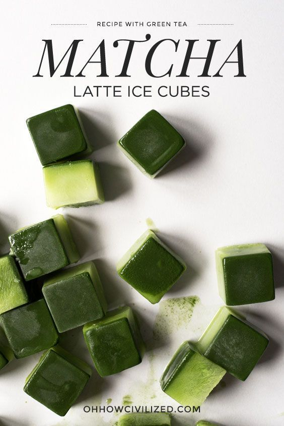 Matcha (Green Tea) Latte Ice Cubes - super easy and so good! http://teapavse.com/healthiest-teas-to-drink/