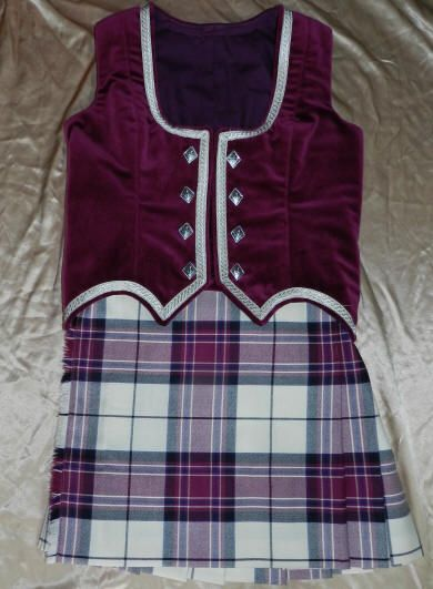 Kiltie & vest (not on dancer) #mackellar #wine #tartan