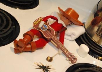 camping cowboy elf