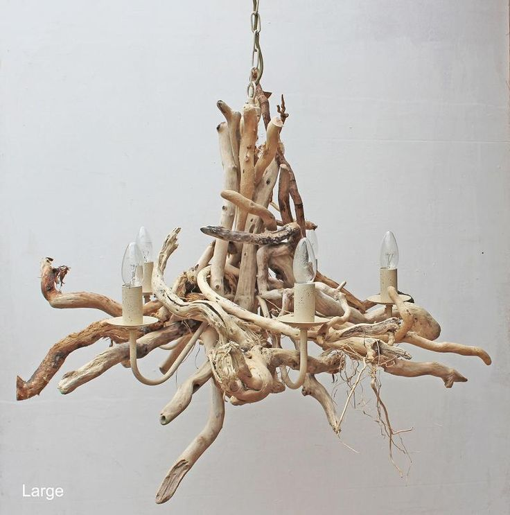 These driftwood chandeliers by Julia Horberry are the perfect lighting accessory for the coastal inspired home.