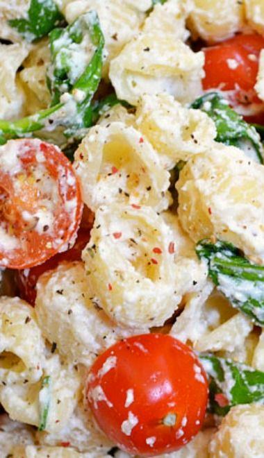 Dinner Recipes: Roasted Garlic Pasta Salad