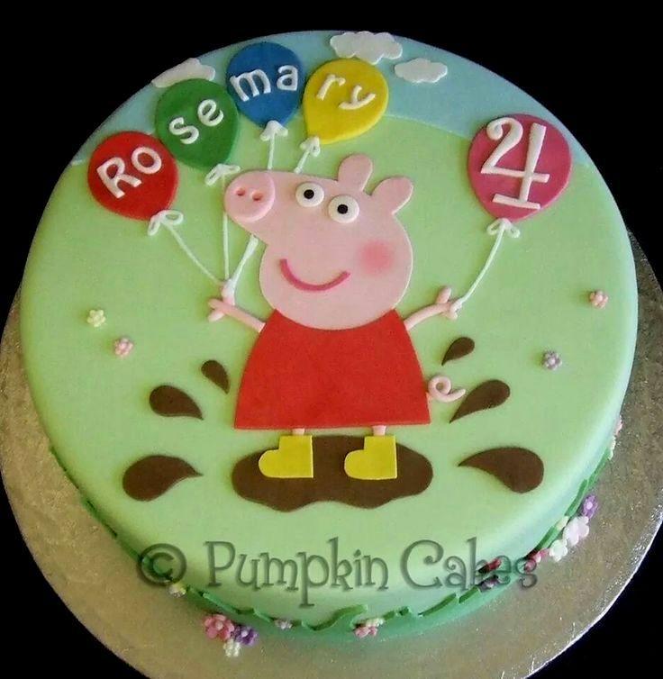 Peppa Pig Birthday Cake.Gateau D Anniversaire Peppa Pig