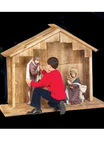 Large Outdoor Nativity Stable, Christmas And Advent Gifts, Outdoor Nativity  Sets At Saint Patricku0027s