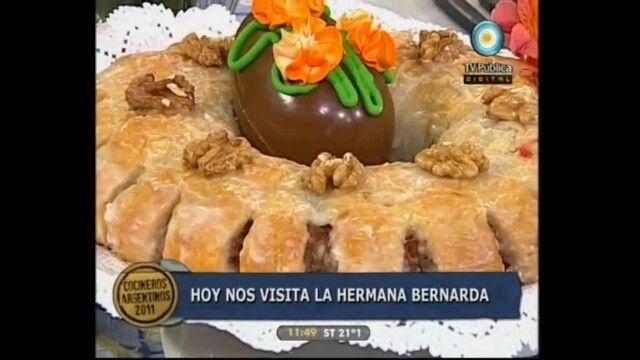 ROSCA DE PASCUA SUIZA.  Rosca de pascua suiza de la Hermana Bernarda en Cocineros Argentinos