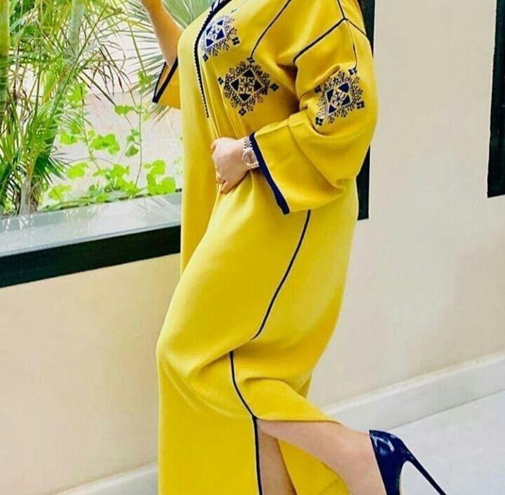 اخر صيحات الجلابة المغربية Girls Fashion Clothes Abayas Fashion Moroccan Clothing