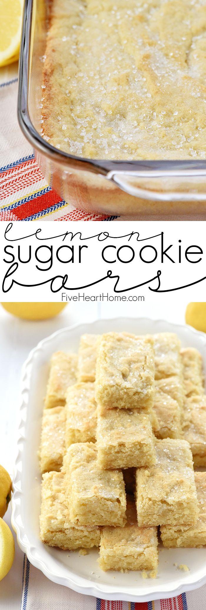 Lemon Sugar Cookie Bars Recipe