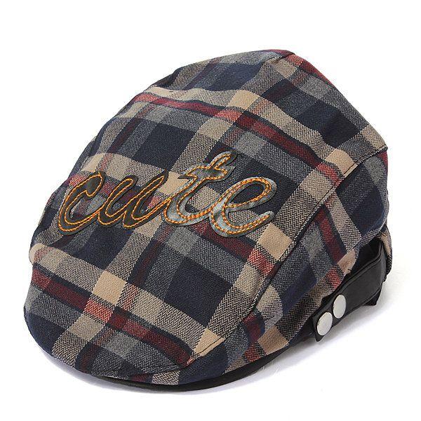 Kids Baby Boy Girl Plaids Beret Cotton Cap Check Newsboy Summer Peaked Sun Hat - NewChic
