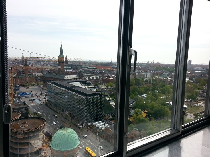 Udsigten fra Restauranten på Radisson Blu Royal Hotel i København.
