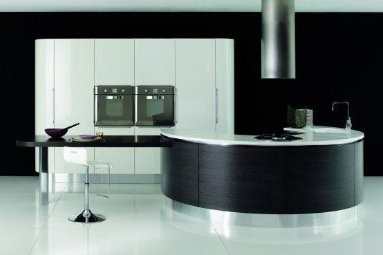 Cocina Contemporánea de Diseño Circular                                                                                                                                                                                 Más