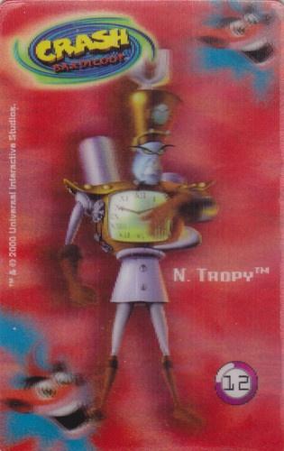 CARD CARTA 3D  CRASH BANDICOOT MR. DAY PARMALAT 2000 CARTA N.  12  OTTIMA