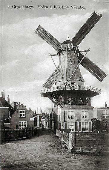Prachtige oude foto van De Haas aan de buitensingel