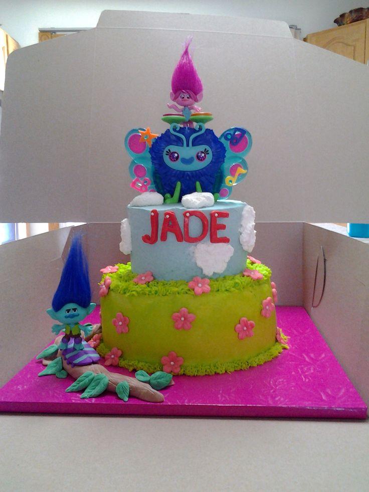 Trolls cake - gâteau Trolls