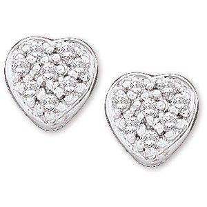 Heart Shaped Diamond Earrings in Beaumont, TX | Alter's Gem