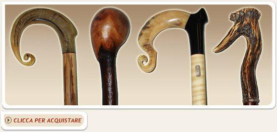 Bastoni da passeggio  Realizzati in corno e legno.