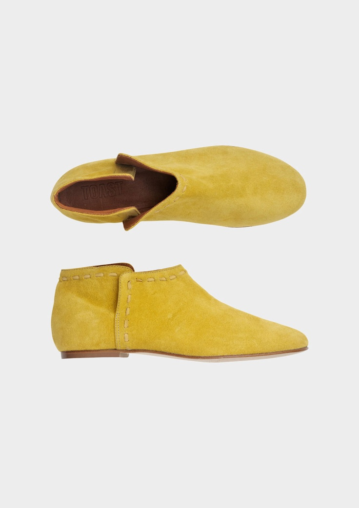 Yellow Suede Ankle Boot