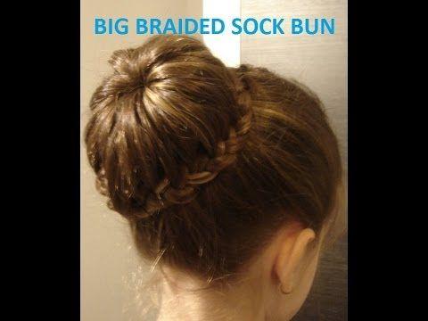 Big Braided Sock Bun!