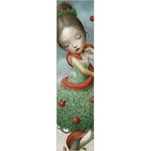 Marcapáginas Eva y la serpiente diseño Nicoletta Ceccoli La Marelle