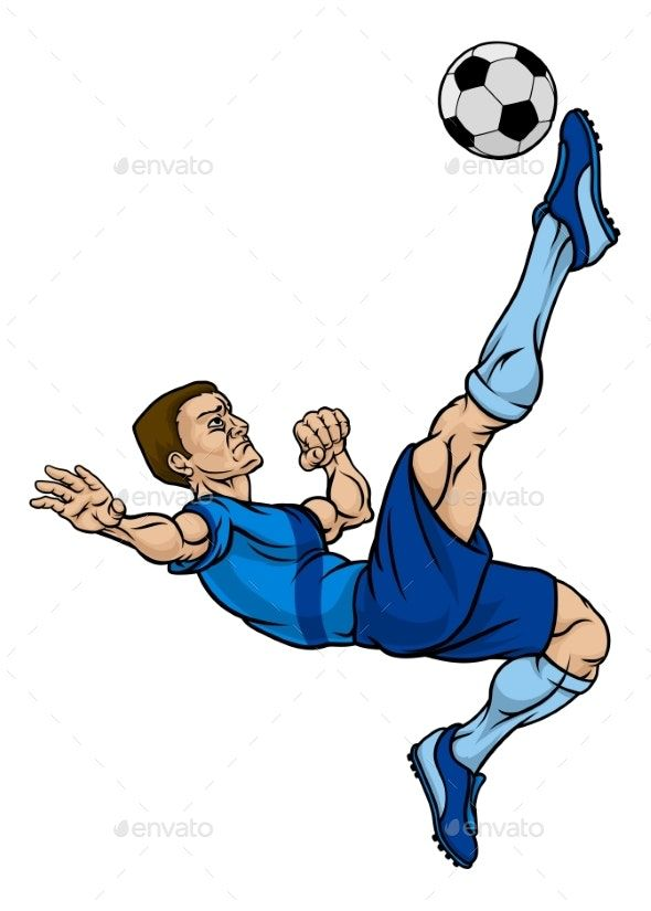 Cartoon Football Soccer Player Soccer Drawing Football Soccer Soccer Players