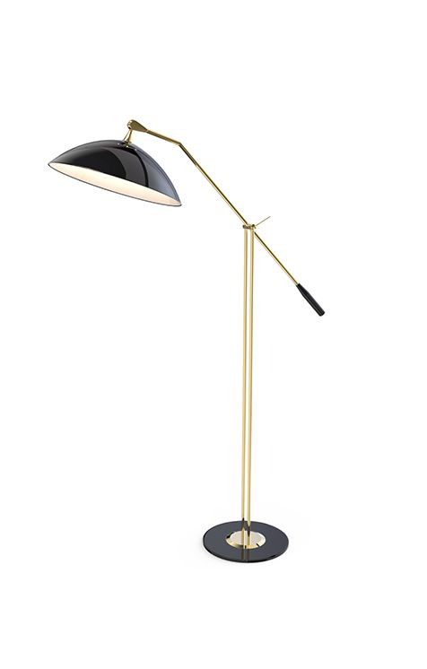 Armstrong floor standing arc lamp reading lamps the o for Arc floor lamp stand