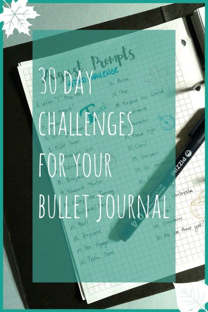 Remember how last week I posted My Bullet Journal Setup for August and included my goals for this month? One of them was to complete a 30 Day Challenge. Complet
