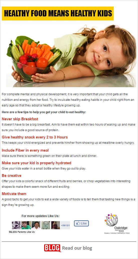 Healthy Food means Healthy Kids