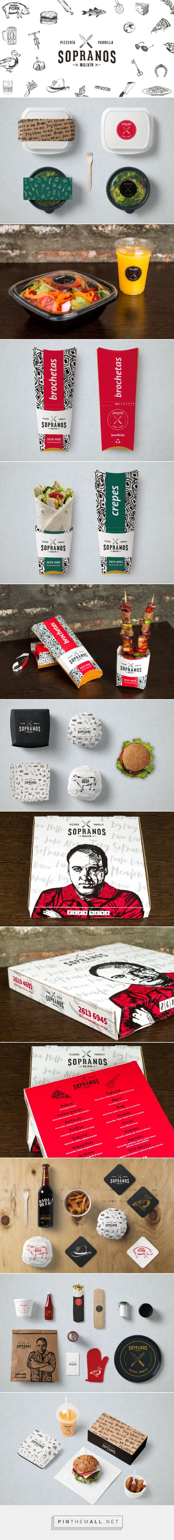 Sopranos Restaurant - Packaging of the World - Creative Package Design Gallery - http://www.packagingoftheworld.com/2016/07/sopranos-restaurant.html