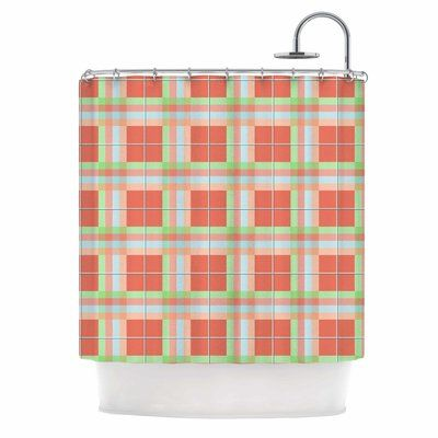 East Urban Home Afe Images Summer Plaid Shower Curtain