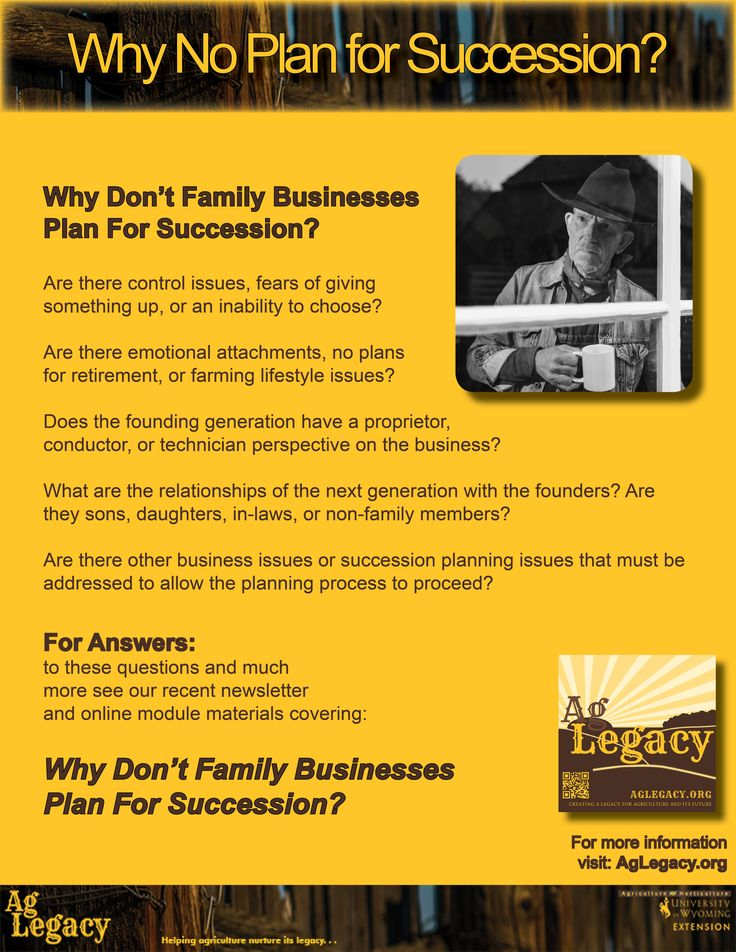 Why Don't Family Businesses Plan For Succession? AGLEGACY