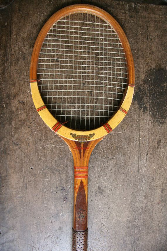 Imagine this cool old Dunlop racquet on display in your boys room or in the games area of your home! It sports some gorgeous timber inlays. FoundByHer
