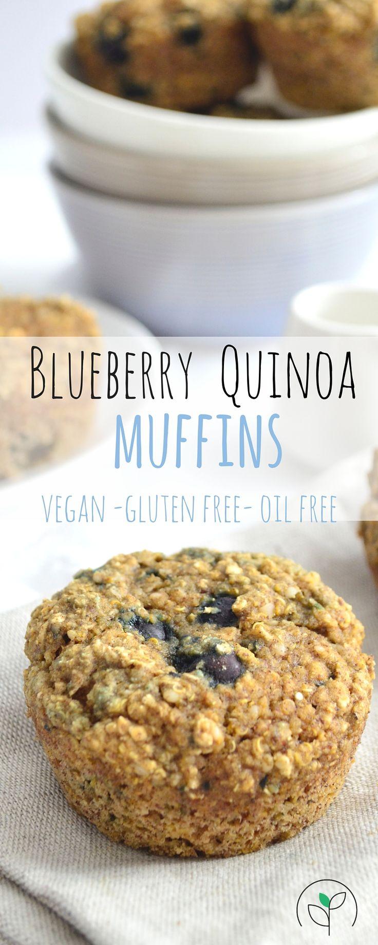 Blueberry Quinoa Muffin, high protein, gluten free, omega 3 rich #glutenfree #vegan #quinoa #highprotein #omega3