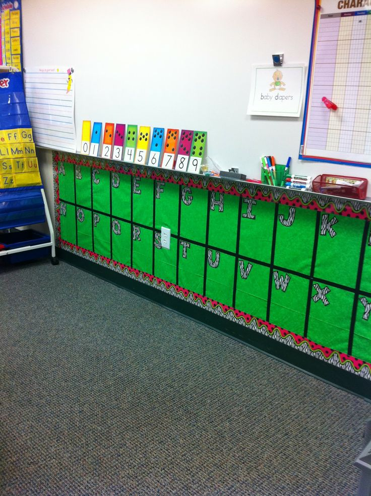 Great use of wasted space to put a word wall students can actually see.