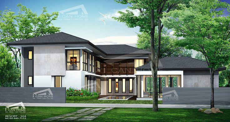 Re H2 504 แบบบ านสองช น 4 ห องนอน 5 ห องน ำ 558 ตร ม Resort Style สระว ายน ำ ร ปแบบบ าน สถาป ตยกรรมบ าน ออกแบบบ าน