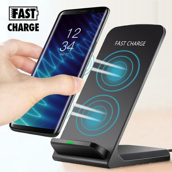 Qi Wireless Mobile Phone Charger Universal Wireless Fast Charger Stand Dock For Samsung Galaxy S9 S9 Plus Note 8 S8 S8 Plus S7 S7 Edge
